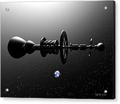 The United Earth Federation Starship Carl Sagan 1 Acrylic Print by Walter Neal