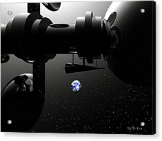 The United Earth Federation Starship Carl Sagan 2 Acrylic Print by Walter Oliver Neal