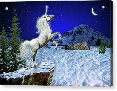 Acrylic Print featuring the digital art The Ultimate Return Of Unicorn  by William Lee