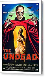 The Undead, Horror Movie Poster Acrylic Print