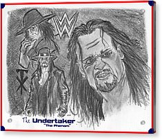 The Undertaker Acrylic Print by Chris  DelVecchio