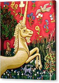 The Unicorn Acrylic Print by Genevieve Esson