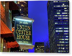 Acrylic Print featuring the photograph The Union Oyster House - Boston by Joann Vitali