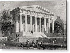 The United States Bank Philadelphia Usa Acrylic Print by Vintage Design Pics
