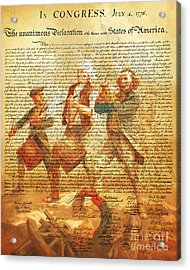 The United States Declaration Of Independence And The Spirit Of 76 20150704v2 Acrylic Print