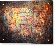 The United States Acrylic Print by Michael Tompsett