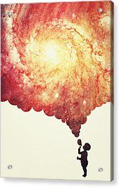 The Universe In A Soap Bubble Awesome Space Nebula Galaxy Negative Space Artwork Acrylic Print by Philipp Rietz
