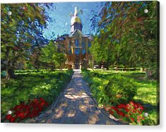 The University Of Notre Dame Acrylic Print by Dan Sproul
