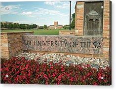The University Of Tulsa Oklahoma Acrylic Print