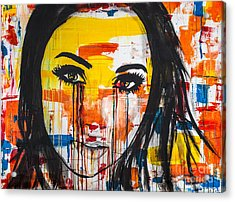 Acrylic Print featuring the painting The Unseen Emotions Of Her Innocence by Bruce Stanfield