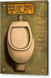 The Urinal Acrylic Print by Leah Saulnier The Painting Maniac