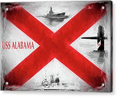 The Uss Alabamas Acrylic Print by JC Findley