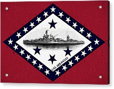 Acrylic Print featuring the digital art The Uss Arkansas by JC Findley