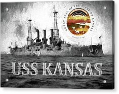 The Uss Kansas Acrylic Print by JC Findley