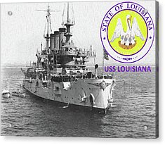 The Uss Louisiana Acrylic Print by JC Findley