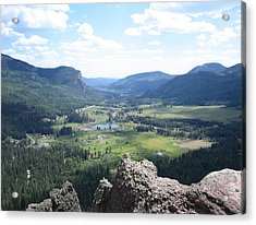 The Valley Below Acrylic Print by CGHepburn Scenic Photos