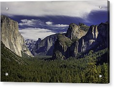 The Valley Acrylic Print by Jim Riel