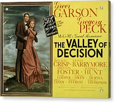 The Valley Of Decision, Gregory Peck Acrylic Print by Everett