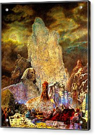 Acrylic Print featuring the painting The Valley Of Sphinks by Henryk Gorecki