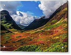 The Valley Of Three Sisters. Glencoe. Scotland Acrylic Print