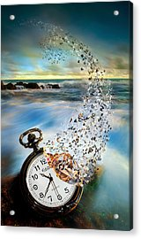 The Vanishing Time Acrylic Print by Sandy Wijaya