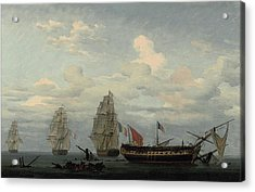 The Vanquished Frigate Acrylic Print by MotionAge Designs