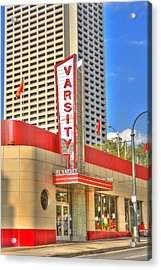 The Varsity Frontdoor Atlanta Georgia Landmark Art Acrylic Print