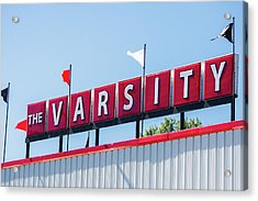 Acrylic Print featuring the photograph The Varsity Sign by Parker Cunningham