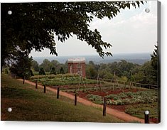 The Vegetable Garden At Monticello Acrylic Print by LeeAnn McLaneGoetz McLaneGoetzStudioLLCcom