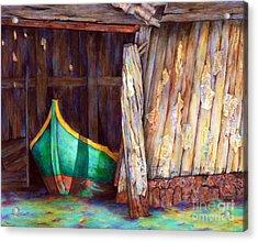 The Venetian Boathouse Acrylic Print by Winona Steunenberg