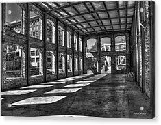 The Venue Bw Old Mill Wedding Venue Reedy River South Caroline Art Acrylic Print