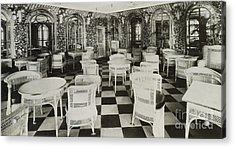 The Verandah Cafe Of The Titanic Acrylic Print by Photo Researchers
