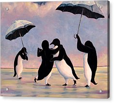 The Vettriano Penguins Acrylic Print