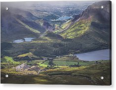 The View From Atop Snowdon Acrylic Print