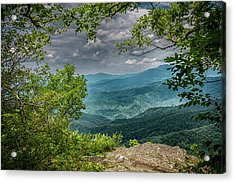 The View From Blowing Rock Acrylic Print by John Haldane