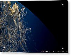 The View From Here Acrylic Print by Jonathan Ellis Keys