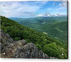 Acrylic Print featuring the photograph The View From Raven's Roost by Lori Coleman