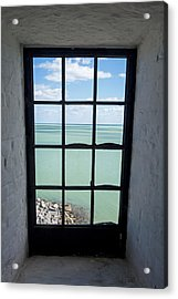 The View From The Lighthouse Window Bill Baggs Lighthouse Key Biscayne Florida Acrylic Print