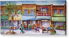 Acrylic Print featuring the painting The Village by Margit Sampogna
