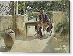 The Vine  Acrylic Print by Carl Larsson