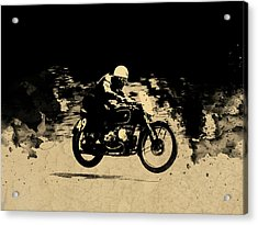 The Vintage Motorcycle Racer Acrylic Print by Mark Rogan