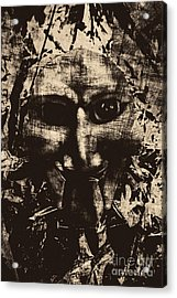 The Vintage Puppet Mask Acrylic Print