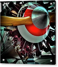 Acrylic Print featuring the photograph The Vintage Stearman C-3b Biplane by David Patterson