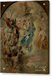 The Virgin As The Woman Of The Apocalypse By Peter Paul Rubens  Acrylic Print by Esoterica Art Agency