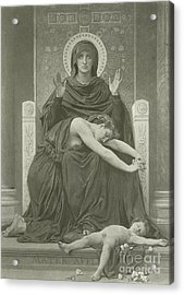 The Virgin Comforter Acrylic Print by William-Adolphe Bouguereau