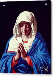 The Virgin In Prayer Acrylic Print