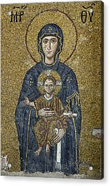 The Virgin Mary Holds The Child Christ On Her Lap Acrylic Print by Ayhan Altun