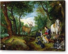 The Vision Of Saint Hubert Acrylic Print