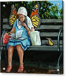 The Visiting Angel - Fantasy Painting Acrylic Print