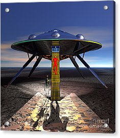 The Visitor 5 - Renfo Disembarks Acrylic Print by Walter Neal